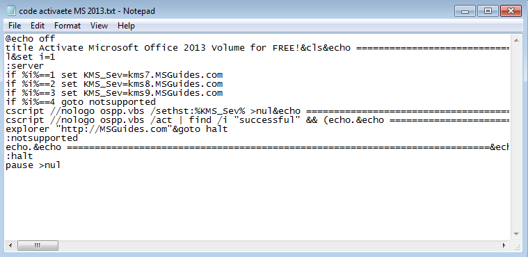 code to activate microsoft office 2013