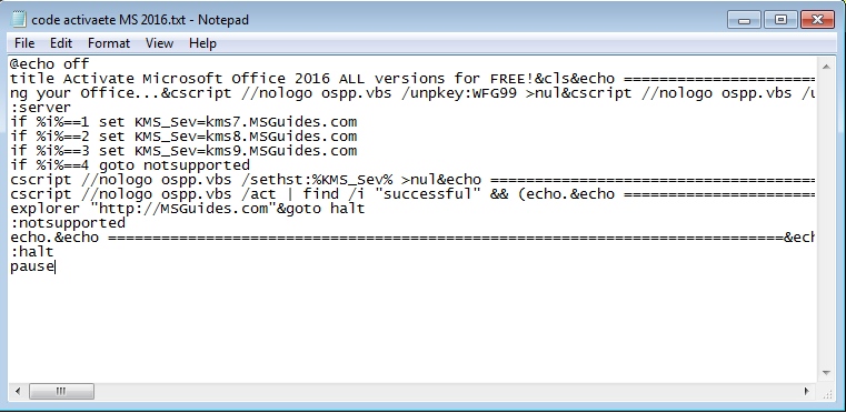 code to activate microsoft office 2016