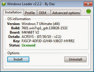 Download Windows Loader v2.2.2 by Dar to Activate Your Windows Free