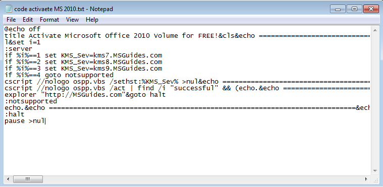 code to activate microsoft office 2010