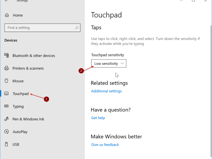 How to disable touchpad on windows 10