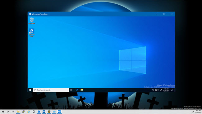 How to run in sandbox windows 10